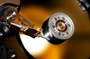 Hard disk, gold
