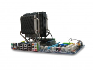 This is what is needed to properly dissipate heat.  Think this will fit into your laptop?