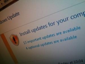 Screenshot, Windows update, macro, 30 deg